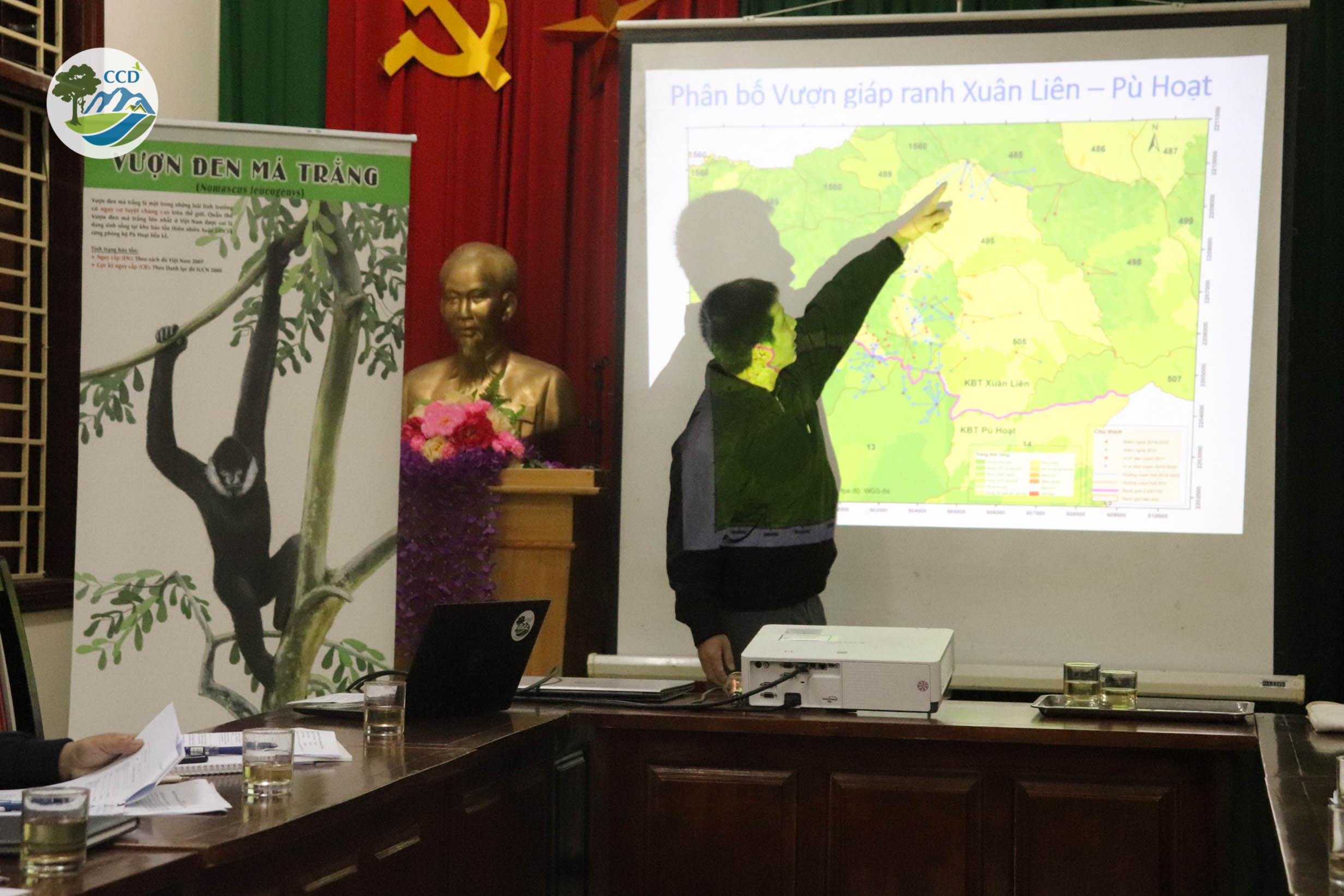 Improving  cooperation for effective conservation of the critically endangered white-cheeked gibbons and endangered wildlife in Xuan Lien - Pu Hoat Conservation landscape