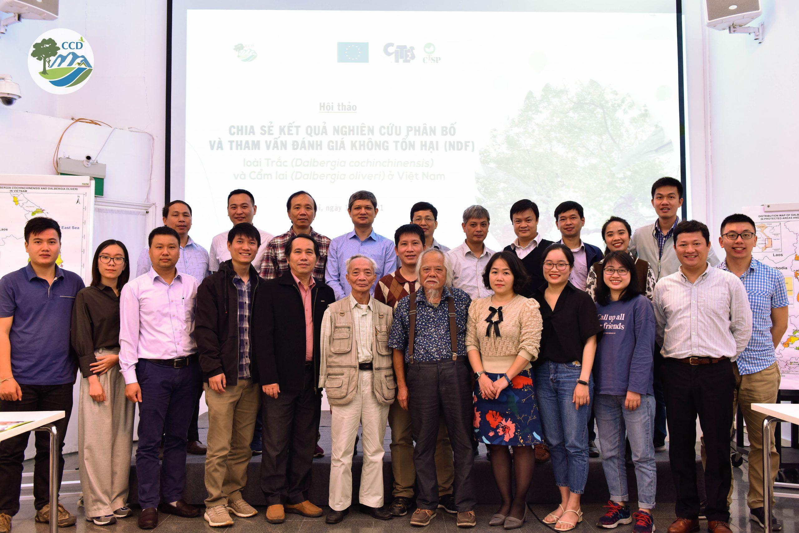 Hội thảo Chia sẻ kết quả nghiên cứu phân bố và tham vấn báo cáo đánh giá không tổn hại (NDF) cho hai loài Trắc (Dalbergia cochinchinensis) và Cẩm lai (D. oliveri) ở Việt Nam